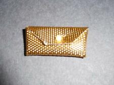 Vintage Barbie Miss America REGAL RED Textured Gold Clutch purse VVHTF