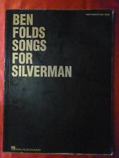 BEN FOLDS Songbook SONGS FOR SILVERMAN Sheet Music 11 songs 2005