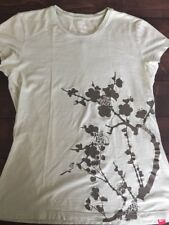 North Face Mint Green Ladies T Shirt Cherry Blossom Design Size M Casual Top
