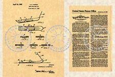 1968 Poppen SNURFER SNOWBOARD Patent Art Print-Snow Ski Board- Burton PM#615