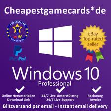 MS Win  Dows 10 Professional WIN 10 PRO de 32 & 64 bit OEM product key tramite email