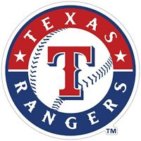 "Texas Rangers MLB Logo Vinyl Decal - You Choose Size 2""-28"""