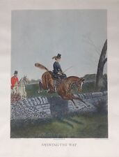 "Old World Etching, ""Shewing the Way"" by Artist John Sturgess, Large 32 by 24"""