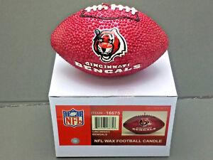 Cincinnati Bengals Wax Football Candle