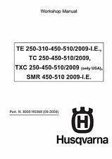 husqvarna te250 te450 full service repair manual 2001 2004