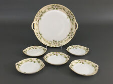 Antique porcelain hand painted NIPPON plates / Dessert Set 1891 - 1921