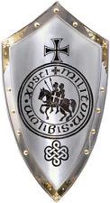 Mittelalterliche Reproduktion Templer Rüstung Schild Stahl & Messing Reproduktio