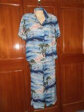 G W Graff  Size M Women's 1970s Traditional Pattern Hawaiian top pants set