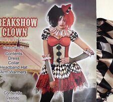 Clown Costume Womens Size M 8 10 Medium Freakshow 5 Pcs Halloween Cosplay Dress