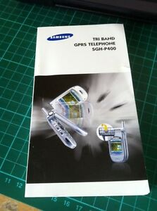 SAMSUNG SGH-P400 mobile phone manual