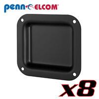 "8 Pack Penn Elcom D0946K Blank Plain Dish Black Custom Application 4"" x 4-3/8"""