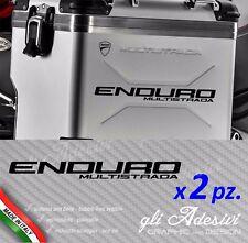 2 Adesivi valigie Ducati Multistrada ENDURO alluminio logo