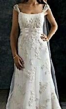 oleg cassini wedding dress size 2 ivory