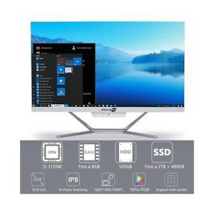 """COMPUTER DESKTOP ALL IN ONE I3 3120M 24"""" 1080P WIFI HDMI WINDOWS 10 PRO."""