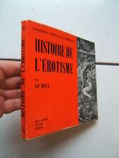 LO DUCA / HISTOIRE  DE L EROTISME /  PAUVERT  /  1959
