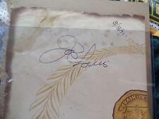 Joe Louis HUGE VINTAGE Signed 8/18/71 auto Ceasar's Las Vegas Menu Autograph