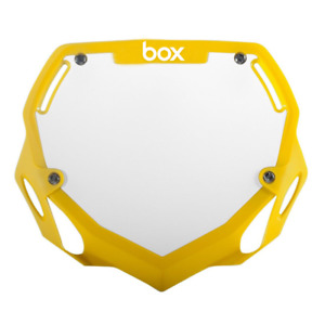 BOX TWO BMX NUMBER PLATE PRO YELLOW