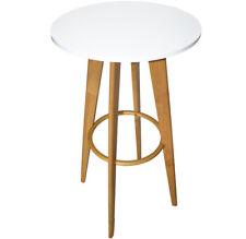 Fassmöbel Stehtisch Tisch Design Partytisch Bistrotisch Weiss Ø 57cm Höhe 108cm