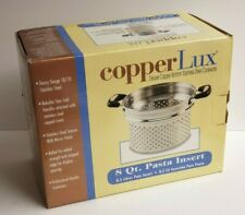 CopperLux 8 Qt Pasta Insert Stainless Steel Professional Quality Cookware NEW