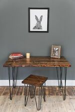 Hairpin Leg Desk or Table. 60cm(D) x 80cm(W). Rustic Industrial Furniture