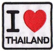 Patche écusson hotfix transfert I love Thailand Thaïlande patch brodé