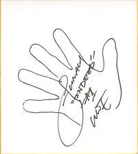 Sho Funaki Signed w/ Hand Sketch Shikishi Board Bas Beckett Coa Wwe Kai En Tai