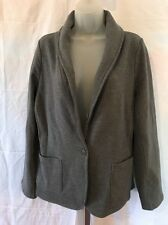 Raison d'etre one button terry blazer gray size L New