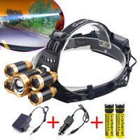 Garberiel 150000LMS T6 LED Super Bright Headlamp Head Lamp Headlight for Hiking