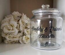 Personalised Biscuit Sweet Cookie Glass Jar