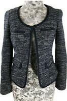 EUC Cute Banana Republic Blazer Tweed Size 2 Navy Blue Long Sleeve Spring $169