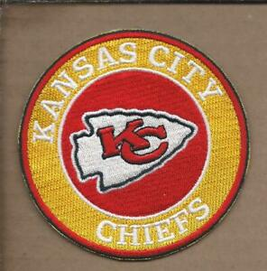 NEW 3 1/2 INCH KANSAS CITY CHIEFS IRON ON PATCH FREE SHIPPING P1
