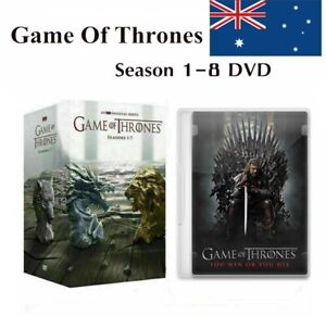 DVD For Game Of Thrones The Complete Season 1-8 Box Set 1 2 3 4 5 6 7 8