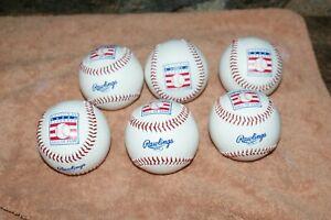 NEW Rawlings Hall of Fame logo Baseballs - 6 Pack -  U GET SIX BALLS