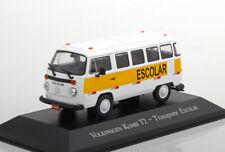 Vw t2 kombi transporte escolar altaya 1/43 volkswagen brasilia bresil brazil