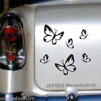 Aufkleber Schmetterlinge 6 Stück im Set  - Autoaufkleber Schmetterling Set XS