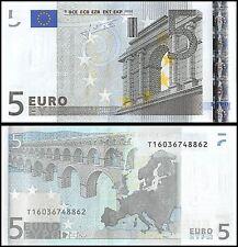 European Union (Ireland) 5 Euros, 2002, P-8t, UNC, Prefix-T