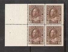 Canada #108a Very Fine Never Hinged Booklet Pane