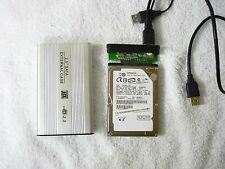 "External Hard Drive Portable Silver USB 2.0 2.5"" SATA HDD 160GB Plug & Play"