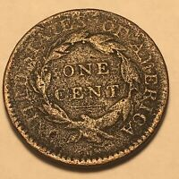1817 Us Large Cent Obsolete Us Coin Type Over 200 Years Old