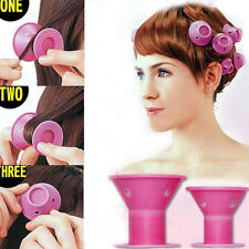 10x NO-HEAT Hair curler Tool Spiral Roller Silicone Curlers Hair DIY Magic Curlღ