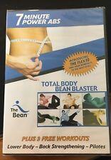 7 Minute Power Abs Total Body Bean Blaster Dvd 3 Bonus Workouts Pilates (b36)@