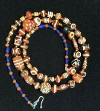Burmese ancient Pyu etched burma bead carnelian necklace