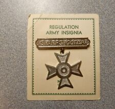 New listing Original Wwi Rifle Sharpshooter Qualification Badge on Maker's Card
