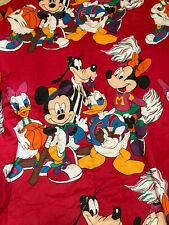 ~Vintage Disney Mickey Mouse & Friends comforter sports bedding blanket red