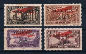 ALAOUITES 1926 airpost MH SET SC#C9-C12 Michel 43-46 Black OVP Red Plane Syria