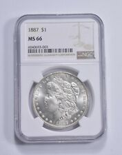 MS66 1887 Morgan Silver Dollar - Graded NGC *368