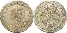 Casa Savoia - Carlo Emanuele III - 1/2 Scudo 1756 Ag Rara MiR 947b g.17,3