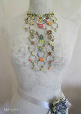 Vintage Andersen Danois Pilgrim Collier Enchanted Fleur Lily pastels/Or BNWT