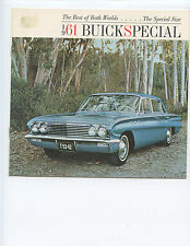 1961 BUICK SPECIAL ADVERTISING BROCHURE (10 PAGES, FULL COLOR, SPECIFICATIONS)