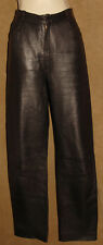 RIZAL Le CUIR - Dark Brown - 100% Soft LEATHER PANTS sz 40 (France) US 10